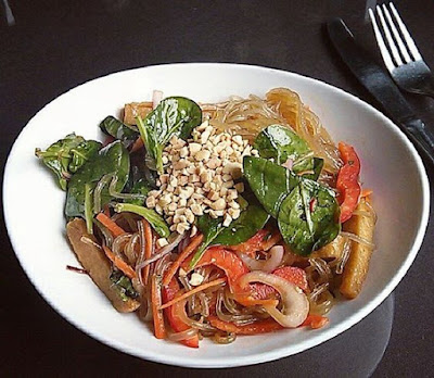 Thai Style Glass Noodle Bowl from Veg Out