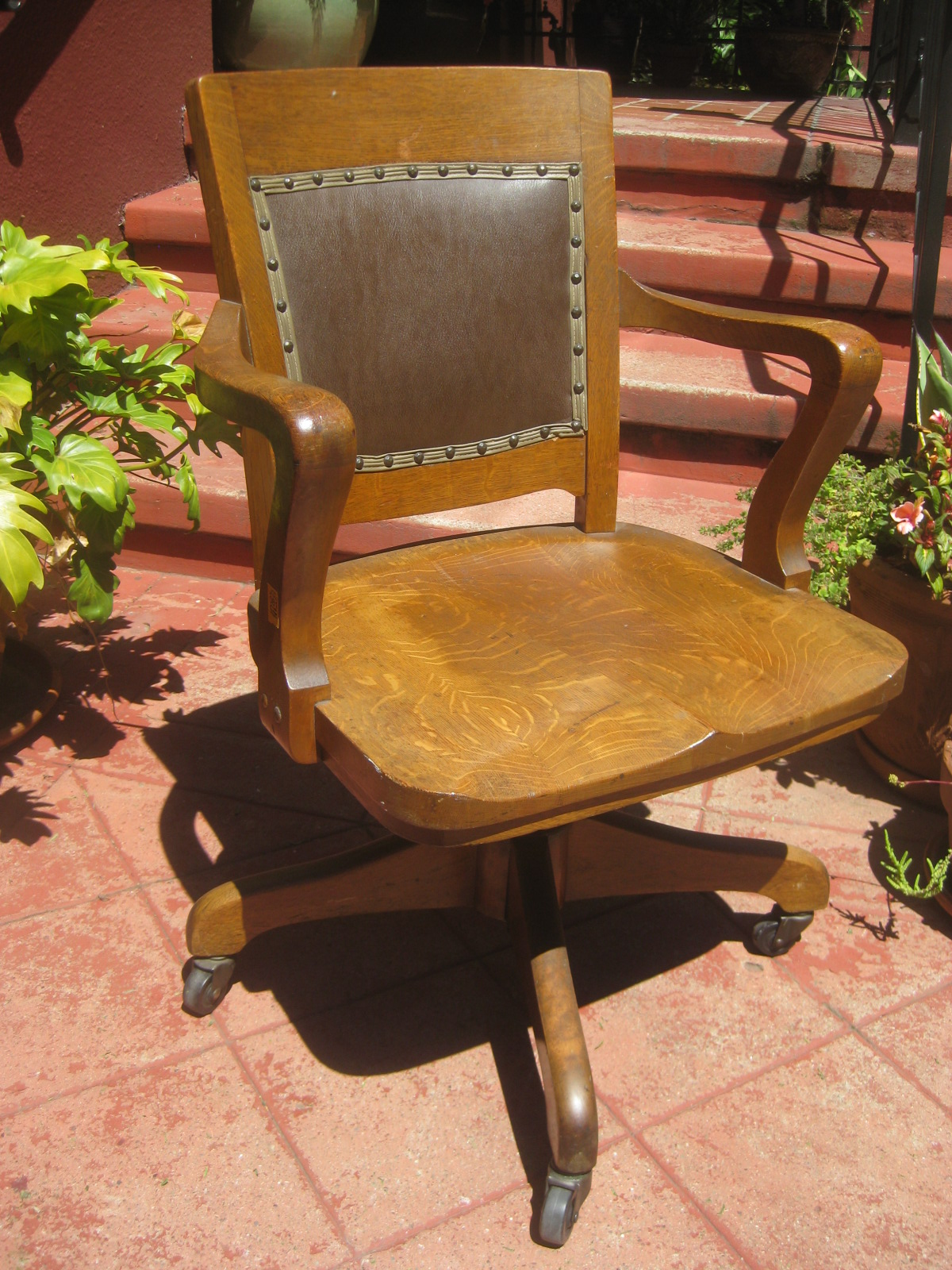 desk chair non rolling swing stand online uhuru furniture and collectibles sold 1930s oak