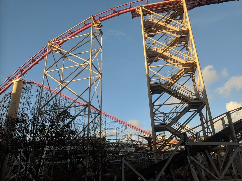 The Big Blue Hotel Blackpool | Pleasure Beach Package & Deluxe Family Room Review  - view of rollercoasters from room