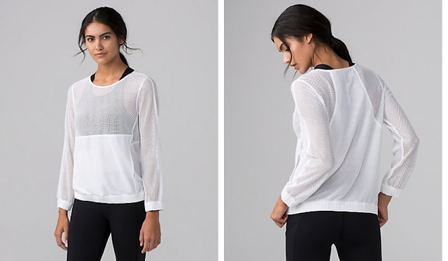 lululemon mesh-on-mesh pop-over
