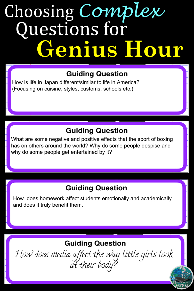 ADVENTURES IN ISTEM: Genius Hour for Middle School- How to Make it Work