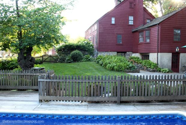 backyard fence and pool