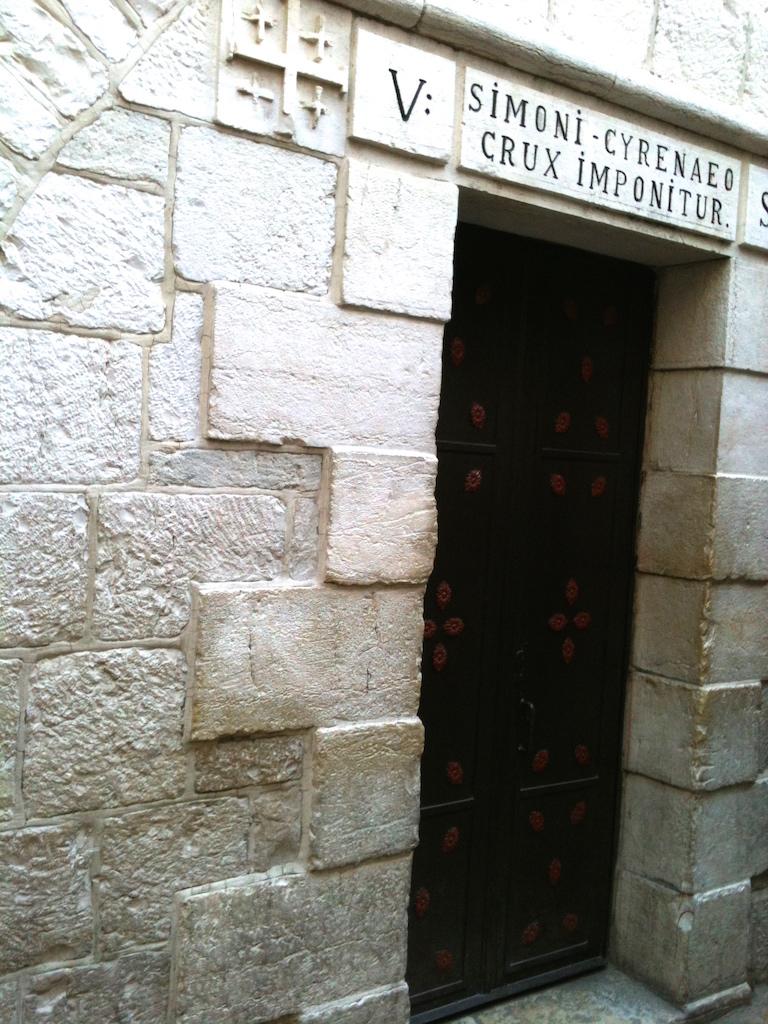 Via Dolorosa Kryžiaus kelias Jeruzalėje