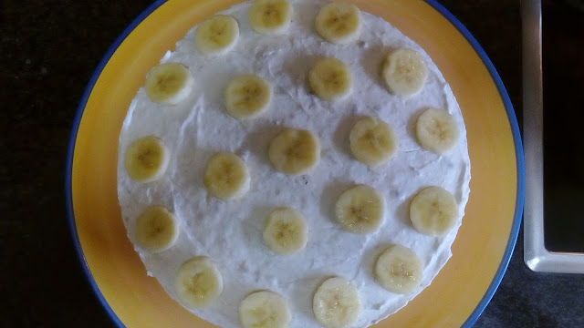 Cheesecake de Banana e Caramelo