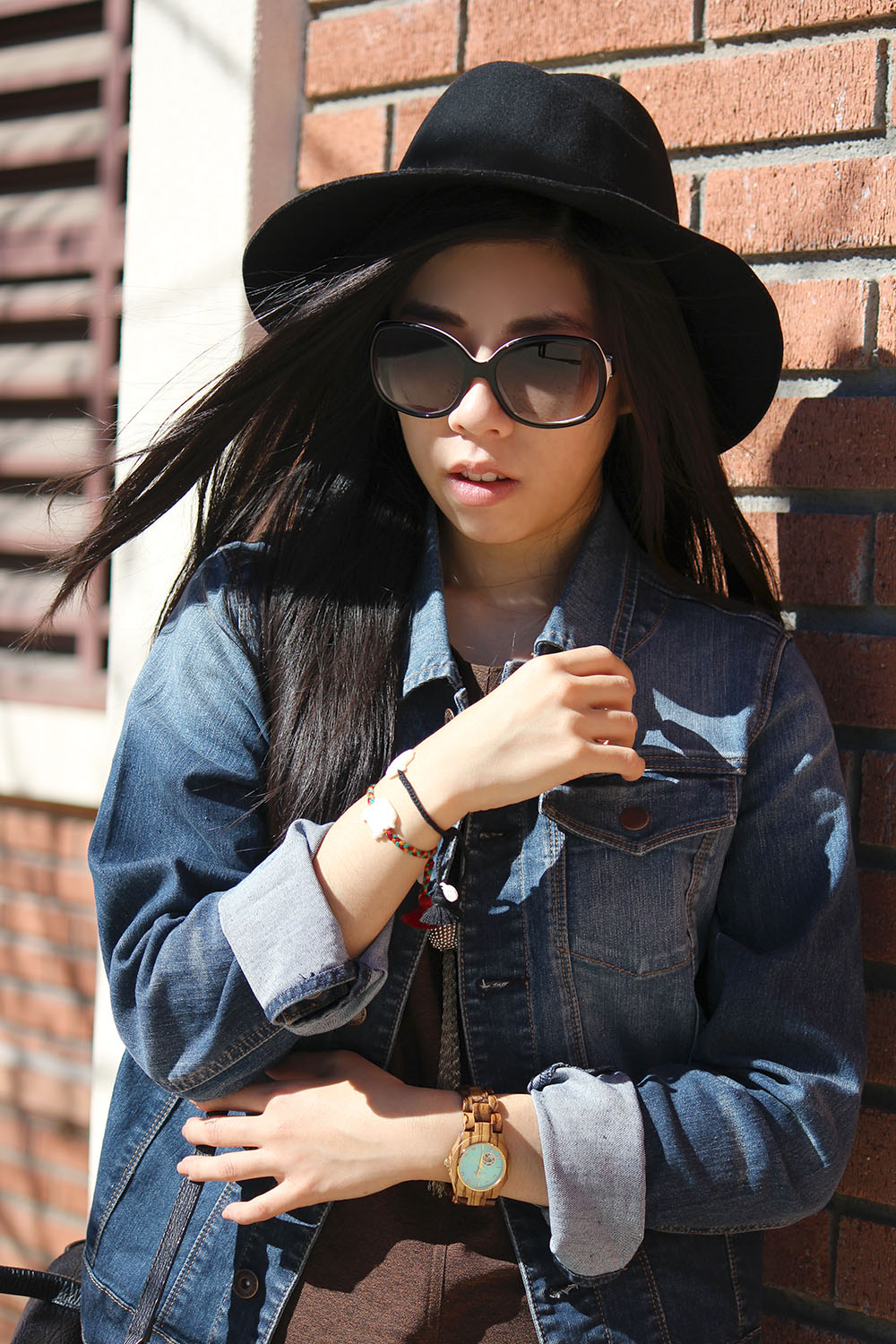Adrienne Nguyen - Student Pharmacist Casual School Style - Maxi dress with booties and a fedora