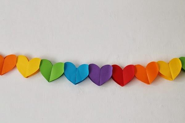Guirnaldas de corazones en 3D