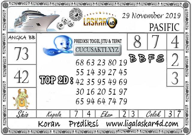 Prediksi Togel PASIFIC LASKAR4D 29 NOVEMBER 2019