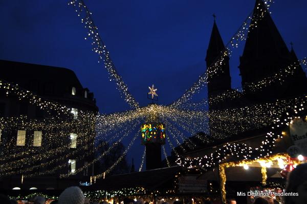 Luces del Mercadillo de Navidad de Mainz(Alemania)