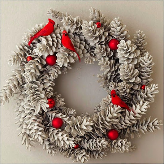 Blog Update & Homemade Christmas Wreath!           |            It's A Colourful Life