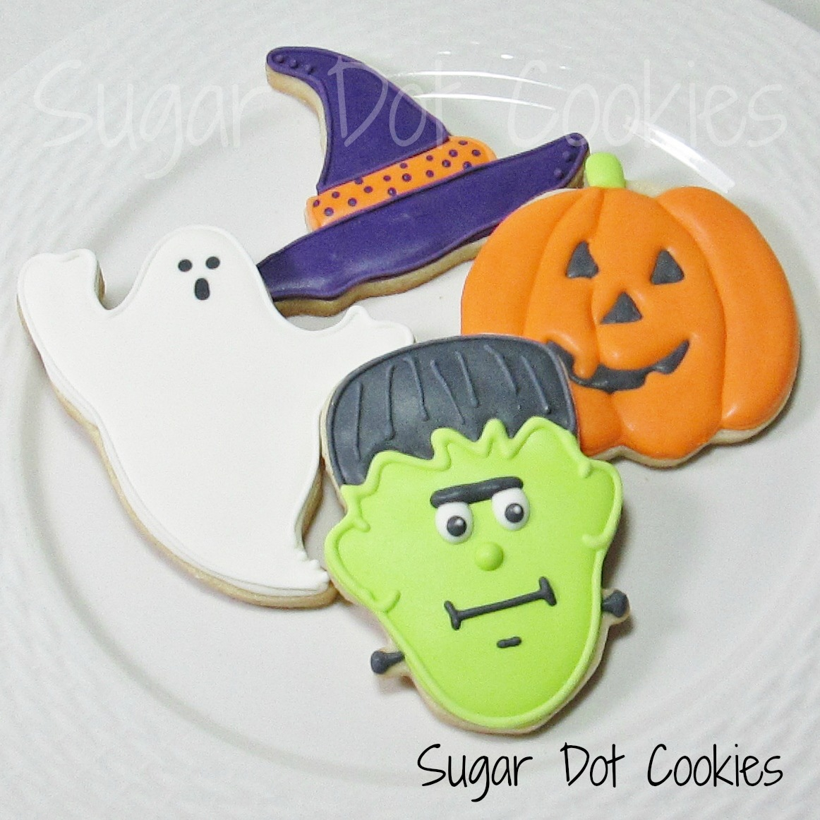 halloween sugar cookies with royal icing - Decorated Halloween Sugar Cookies