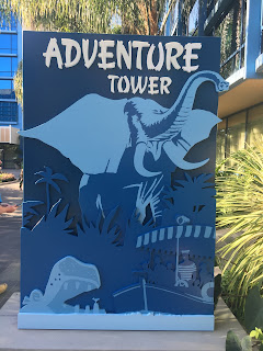 Adventure Tower Sign Disneyland Hotel