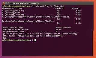 desfragmentar Linux con e4defrag