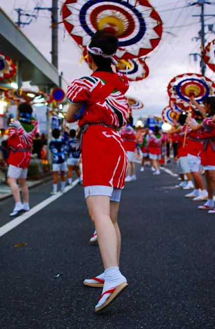 Shanshan Matsuri (Umbrella Dance Festival) in Tottori Pref.