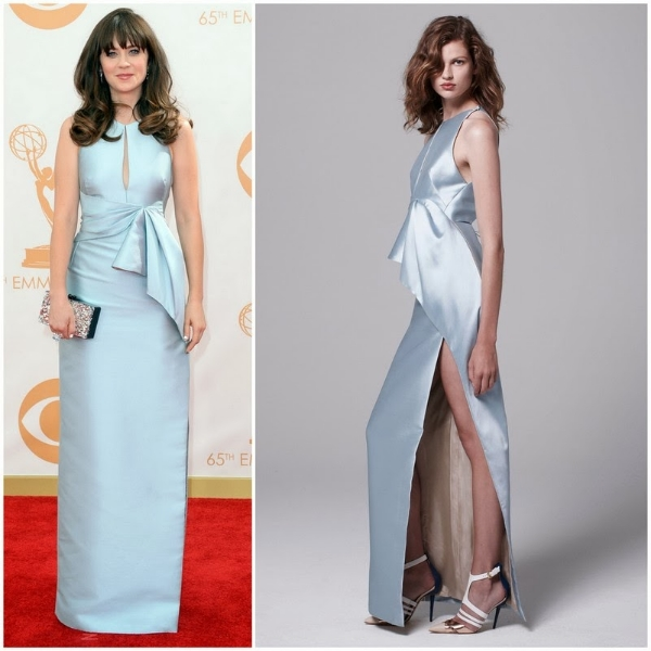 Zooey Deschanel in J. Mendel – 2013 Emmy Awards