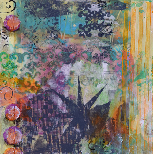 faux encaustic, nature, florals