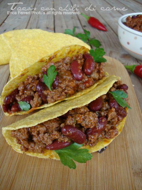 Ricetta Originale Tortillas Messicane.Ogni Riccio Un Pasticcio Blog Di Cucina Tacos Messicani Con Chili Di Carne