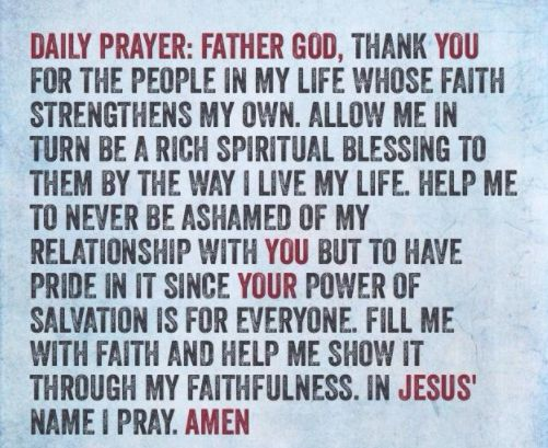 Prayer Of The Day!