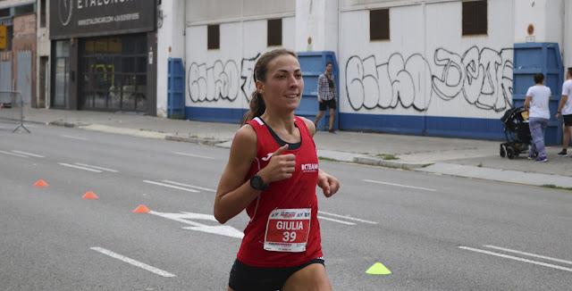 Giulia Rigodanza vencedora de la Cursa Poble Nou 2018