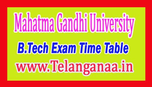 MGU B.Tech (CSE/ECE/EEE) II-I, III-I & IV-I Sem Time Table Dec-2016