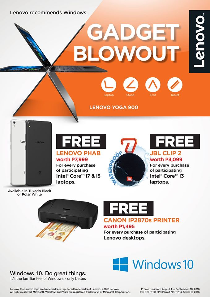 Lenovo Gadget Blowout