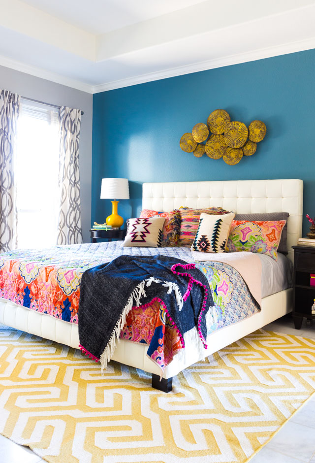 5 steps to a colorful boho bedroom design improvised for Main bedroom designs pictures