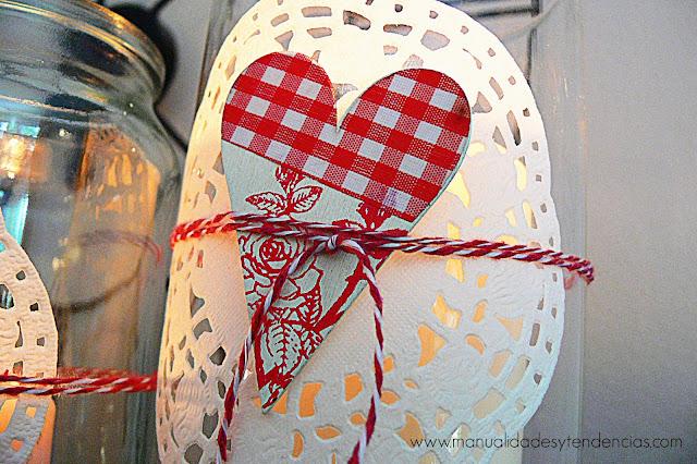 Corazón de madera decorativo San Valentín
