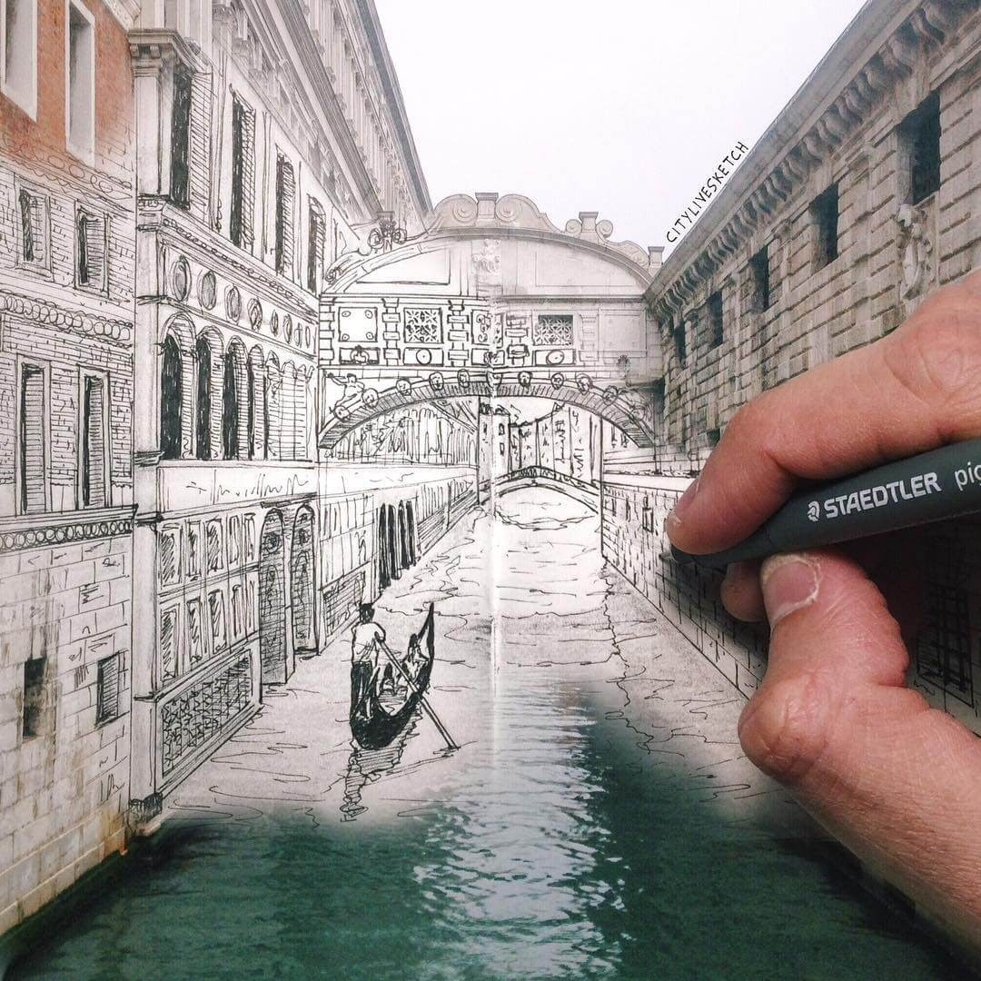 03-Bridge-of-Sighs-Venice-Pietro-Cataudella-3D-Architectural-Urban-Moleskine-Sketches-www-designstack-co