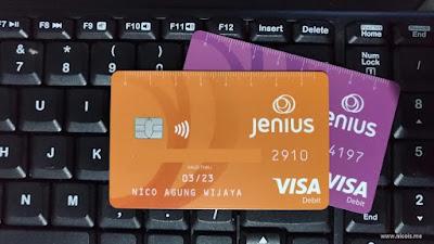 Kartu debit VISA m-Card dan x-Card dari BTPN Jenius