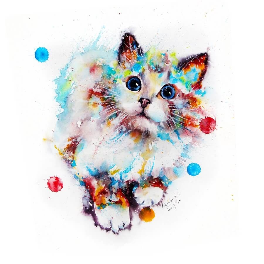 11-Cat-Watercolor-Paintings-liviing-www-designstack-co