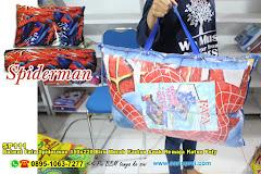 Balmut Fata Spiderman 150×220 Biru Merah Kartun Anak Remaja Katun Poly