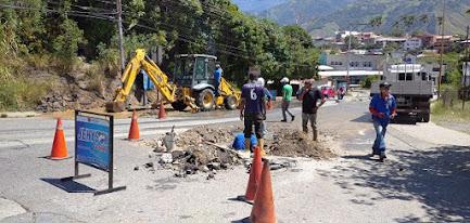 Gobierno Bolivariano realizó reparación de tuberías de agua en Los Curos