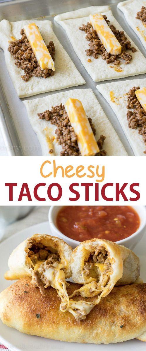 CHEESY TACO STICKS RECIPES