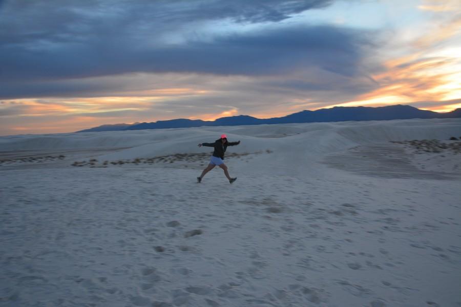 seule dans les dunes