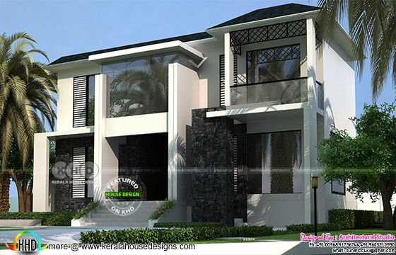 1900 square feet modern house rendering in sober color