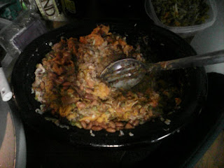 The dogs food is chicken, turkey and bean delight