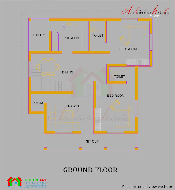 Kerala Home Design And Floor Plans: Architecture Kerala: TRADITIONAL STYLE KERALA HOUSE PLAN