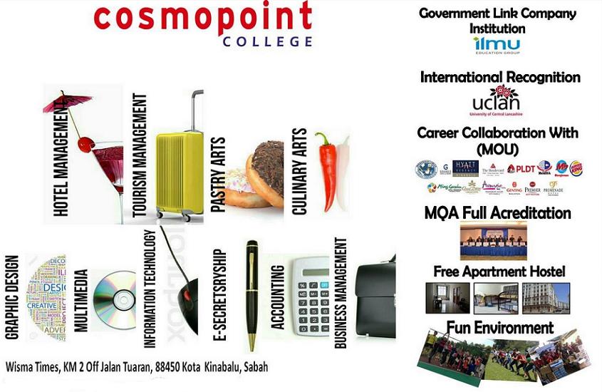 Kursus-kursus diploma di Kolej Cosmopoint Sabah
