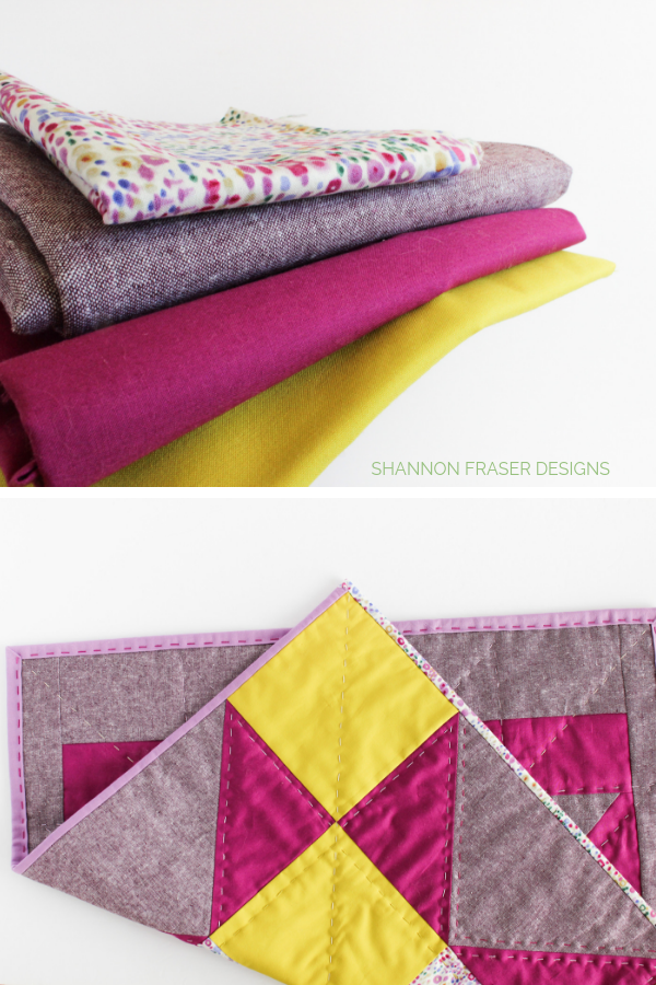 Fabric pull for Indian Star Quilted Wall Hanging | Quilt Big Blog Hop | Shannon Fraser Designs