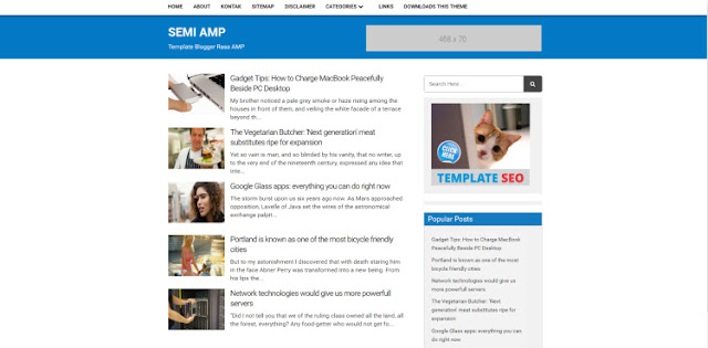 Semi AMP Blogger Template