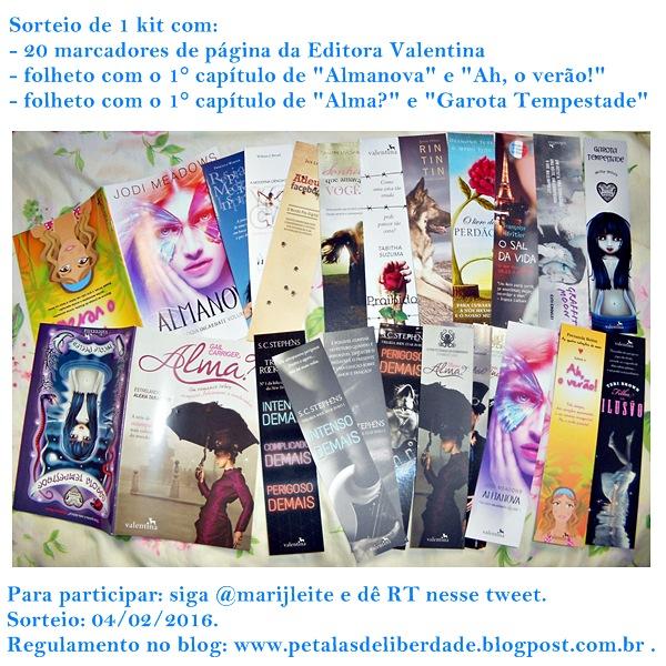 Sorteio, marcadores, Editora-Valentina, marcador-de-página, o-protetorado-da-sombrinha,