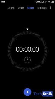 Xiaomi Redmi Note 4 MIUI 10 aplikacja zegar