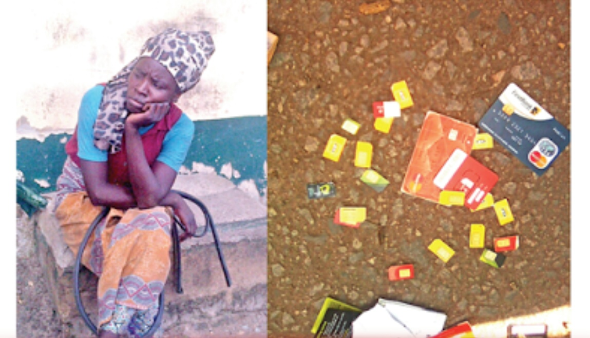 Pictured Mad Woman Arrested With 25 Sim Cards Two Atm