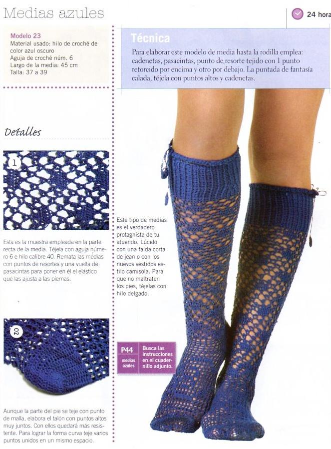 Patron Crochet Calcetines Infantiles