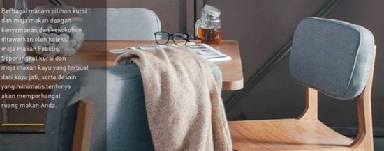 Meja makan dan kursi makan minimalis