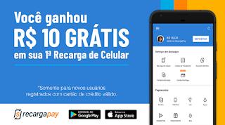 Recarga Celular, Pagar Contas e Bilhete Único, RecargaPay