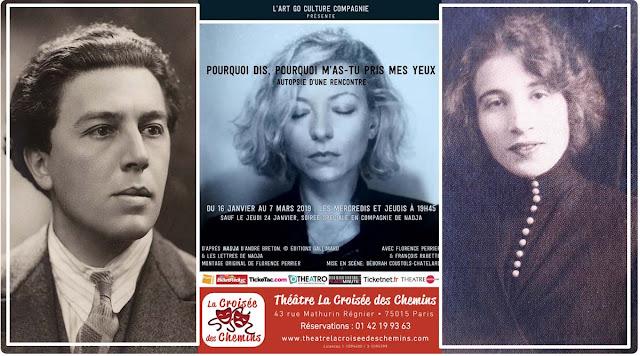 Nadja d'André Breton adapté au théâtre