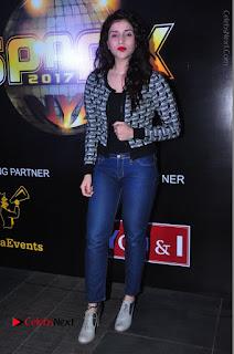 Actress Mannara Chopra Stills in Jeans at Sparx 2017 Curtain Raiser Event  0200.JPG
