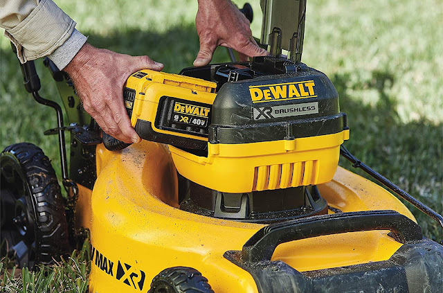 easy to change battery dewalt lawn mower