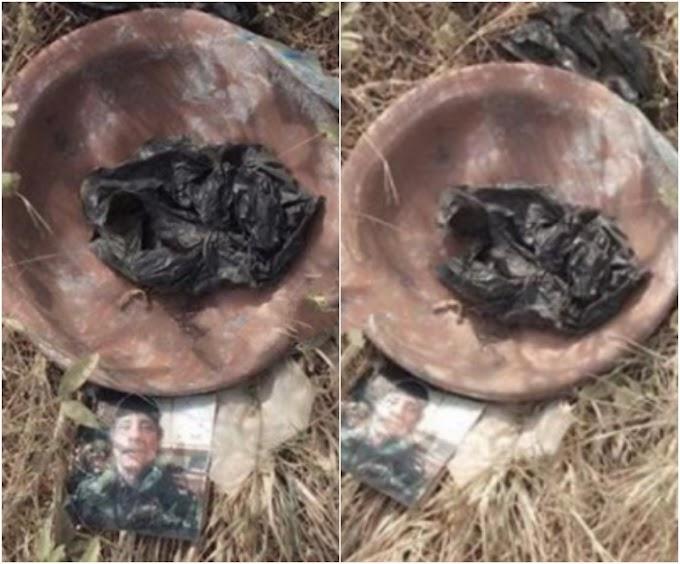 Oyinbo man's photo found in sacrifice offered in Ogun state