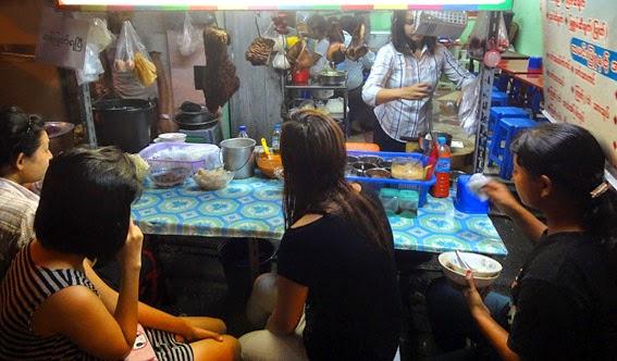 Street side eatery in Yangon